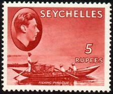 Seychelles 1938 5r. fishing pirogue, MH (SG#149)