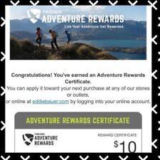 Eddie Bauer $10 USD Reward Gift Certificate expire Apr 4 online or instore use