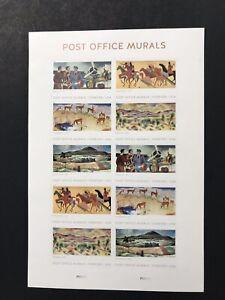 Scott # 5372-76 - 2019 Post Office Murals - Sheet of (10) MNH
