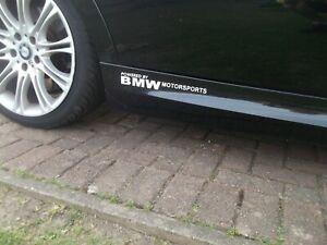 BMW Motorsport..Car Decals Vinyl stickers x2