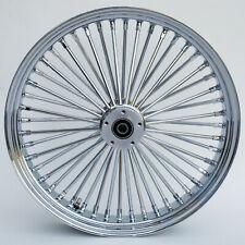 "Chrome 48 King Spoke 26"" x 3.5"" Front Single Disc Wheel for Harley and Custom"