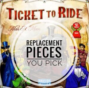 Ticket to Ride Individual and Lot Train Game Replacement Pieces - You Choose