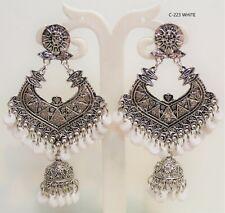 Indian Silver Plated Oxidized Latest Design Jumka Jumki Earring Women Fashionnew