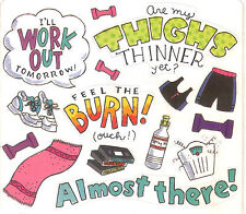 *EXERCISE* Frances Meyer Sticker Sheet FEEL THE BURN~THINNER THIGHS~WORKOUT Gear