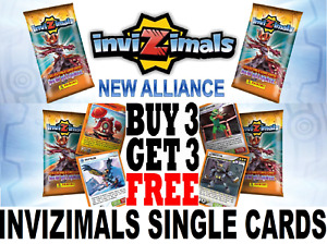 Panini INVIZIMALS NEW ALLIANCE ☆ FOIL & SPECIAL CARDS ☆ BUY 3 GET 3 FREE ☆