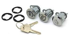 NEW Door Lock Cylinder Set of Three with Keys / FOR 1981-1990 JEEP CJ YJ XJ