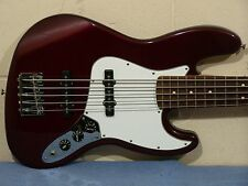 AWESOME FENDER STANDARD 5 FIVE STRING JAZZ BASS 1999 MIM MIDNIGHT WINE CLEAN
