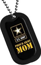 Dog Tag Key Chain Or Necklace Engrave-Able Military Us Army Proud Army Mom #2764