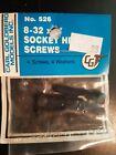 "Carl Goldberg RC #526, 8-32 X 1"" Socket Head Screws (4)"