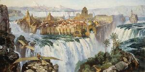 James Gurney WATERFALL CITY (REMARQUE) Dinosaurs, Dinotopia art print #84/250