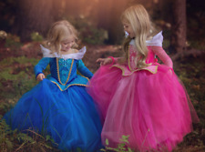 Girl Sleeping Beauty Princess Aurora Dress Costume Party Dresses Cosplay Age 3-9