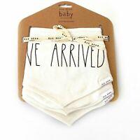 NWT Rae Dunn Baby Bandana Bibs I'VE ARRIVED • MILK MONSTER • HELLO WORLD • NEW