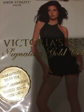 Victoria Secret Sheer Vitality Thigh Highs Stay-ups Color: Beige Small Rare