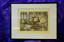 New listing The-Printers-by-Anton-P eck - Framed Early Print Shop