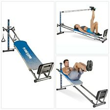 BLUE Total Gym Optima Full Body Workout Home Fitness Folding Exercise Machine