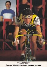 CYCLISME carte cycliste YVON MADIOT équipe RENAULT ELF 1985