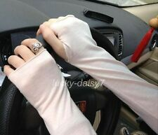 Women's Cool Chic Cotton UV Protection Arm Warmer Long Fingerless Gloves Sleeve