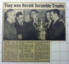1953 Les Archer Gordon Jackson Bob Mann Win Herald Scramble Trophy