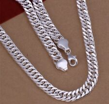925 Sterling Silver Plated 10mm 20inch Chain Necklace Men's Womens Jewellery Aus