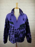 Vintage 1990s PolarLite Fleece PURPLE Geometric Malden Sweatshirt Pullover M VTG