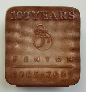 Fenton Chocolate Glass Logo 100th Anniversary Limited Edition 2005 15/300 Signed
