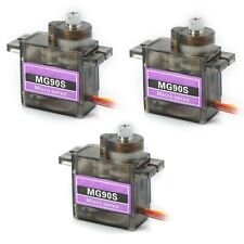 3 Pack MG90S Metal Gear Micro Servo for Boat Car Plane RC Helicopter Arduino etc