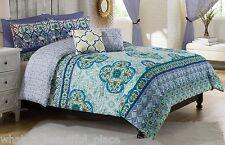 4-Pc Vue Cleo Twin XL Comforter Set Girl's Dorm Room Floral Garden Blue Purple