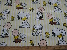 Snoopy Peanuts Charlie Brown hugging Snoopy Fabric Fat Quarter 18