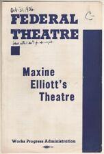 """Orson Welles  """"Horse Eats Hat""""  Federal Theatre  (WPA) Playbill 1936  Bill Baird"""