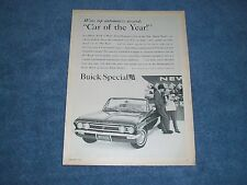 """1962 Buick Special Convertible Vintage Ad """"Car of the Year"""""""