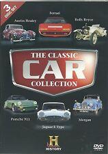 THE CLASSIC CAR COLLECTION - 3 DVD BOX SET FERRARI, PORSCHE, JAGUAR E-TYPE +MORE