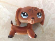 Littlest Pet Shop RARE Dachshund Dog Puppy #640 Scroll Diamond Eyes LPS
