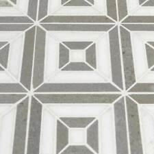 Rhombix Dove Polished Marble Mosaic Tile Pattern-Msi-1=10 Sf (1=1 Boxes)