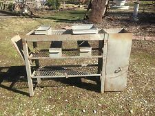ONE Vintage industrial Metal Parts bin Steam punk Desk Tool  Organizer shelf