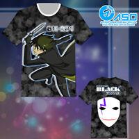 Summer Anime T shirt Darker Than BLACK Hei Unisex Short Casual Tee Tops Gift