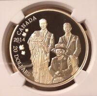 2014 CANADA ROYAL GENERATIONS $20 NGC PF 70 Ultra Cameo - Silver - Top Pop!!!
