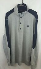Men's SEAN JOHN Thermal Side Blue Gray Long Sleeves Henley Shirt Size XXL