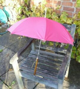 Vintage 1960's Pink Ladies Umbrella 76cm.