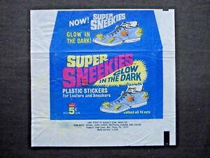 1964 FLEER *SUPER SNEEKIES* PLASTIC STICKERS WAX WRAPPER  **RARE**