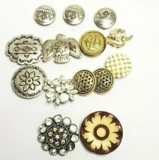 Button Covers Buttons Rhinestone Bakelite Pearl Vintage Lot of 14