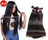 8A Brazilian Peruvian Straight 100% Virgin Human Hair Bundles Weave Extensions
