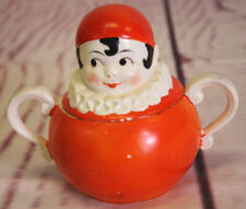 "New ListingVintage Geobel Germany Pierrot Character Great Old Sugar Bowl 1930s Era 4"" Tall"