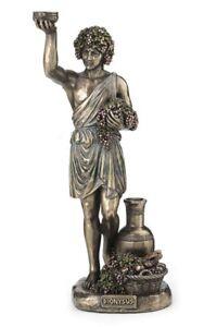 "11"" Dionysus Holding Grapes Greek God of Wine Statue Sculpture Home Decor"