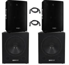 Ibiza Sound Active 3800 W PA System DJ Disco Système Sonore Alimenté Paquet