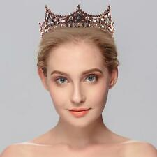 Antique Crystal Baroque Queen Crown Wedding Hair Accessory Party Costume