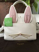 "KATE SPADE NEW YORK ""MAKE MAGIC"" WHITE RABBIT SMALL MAISE CROSSBODY BAG, NWT!"
