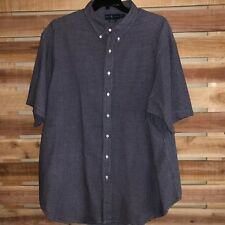 -Mens Polo Ralph Lauren Plaid Checks Pony S/S Button Up Shirt 3XL Tall 3XLT