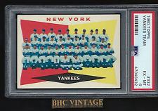 1960 Topps New York Yankees Team Card #332 PSA 6 EXMT