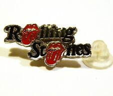 ROLLING STONES - BEAUTIFUL SMALL VINTAGE  PIN - DOUBLE MINI TONGUES - NM