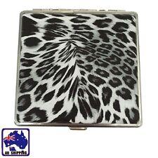 20 Cigarettes Cigarette Box Cigar Black&White Leopard Tobacco Case PU TCIB10402